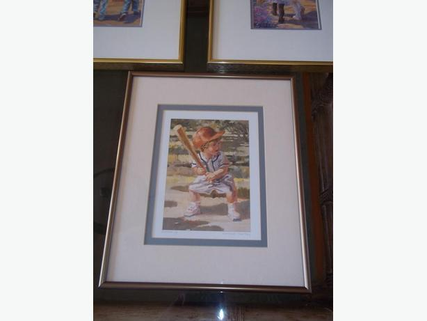 Set of three framed prints