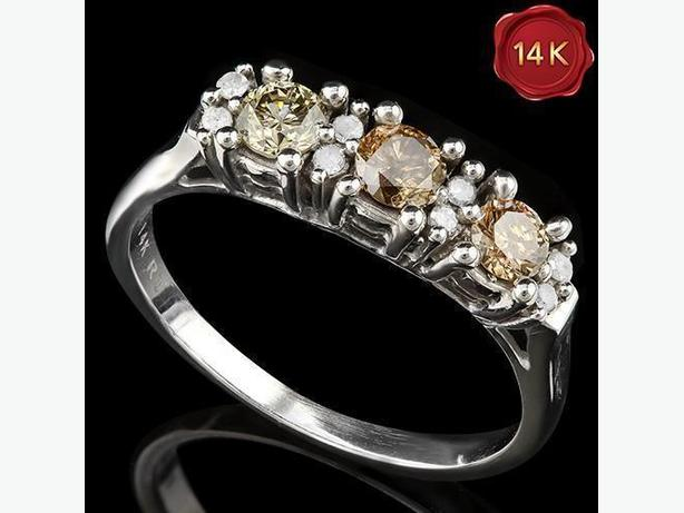 BRAND NEW 2/3 CARAT REAL DIAMOND 14KT SOLID GOLD
