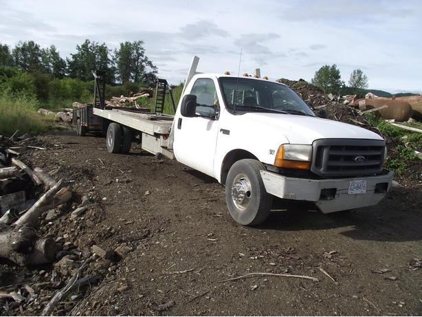 2000 FORD SUPER DUTY 19FT DECK TRUCK W/ FORDING RAMPS