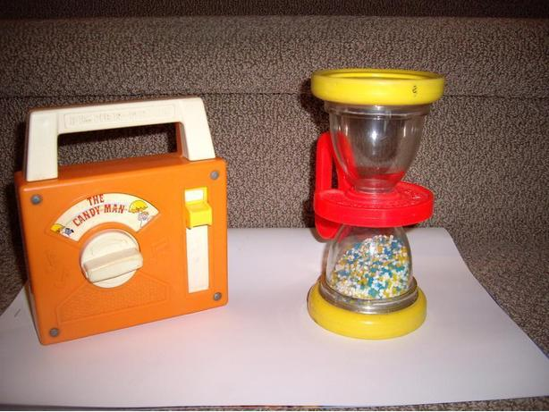 FISHER PRICE RADIO and HOURGLASS