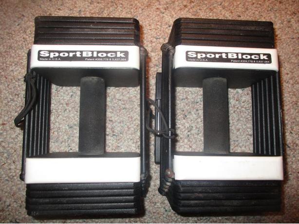 A Pair of SportBlock Adjustable Dumbbells