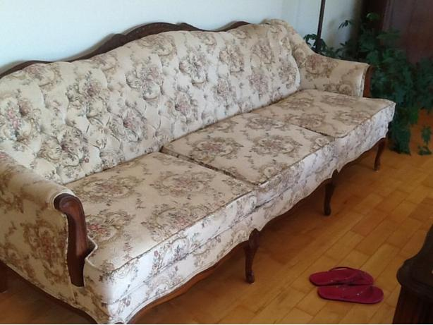 french provincial chesterfield and love seat