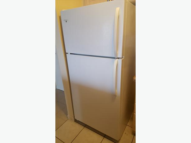 Set of Fridge, Stove, Hood Range, and Dishwasher, Mint Condition