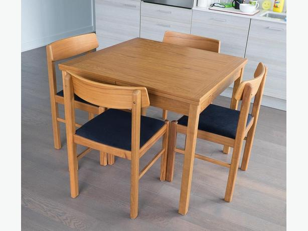 Teak Dining Table Set - 35.5''x35.5'' extensible - excellent condition