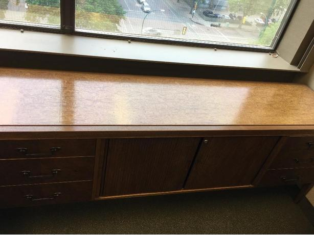 2 piece Antique Desk and Credenza