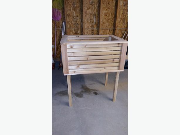 elevated cedar planter