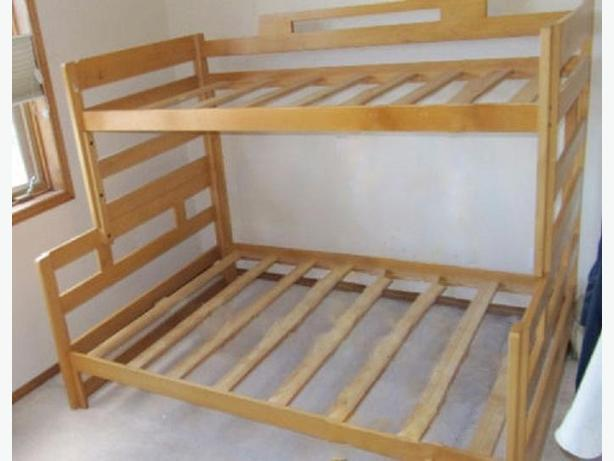 WOOD BUNK BED SINGLE OVER DOUBLE