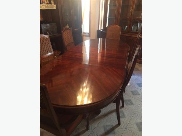Beautiful Dining Table Chairs and Hutch