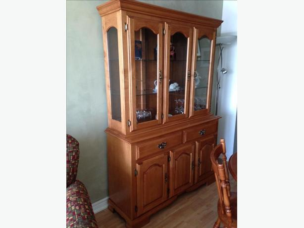 Solid maple hutch and base