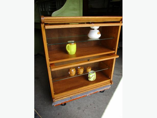 TWO LEVEL STACKING BOOKCASE FROM ESTATE