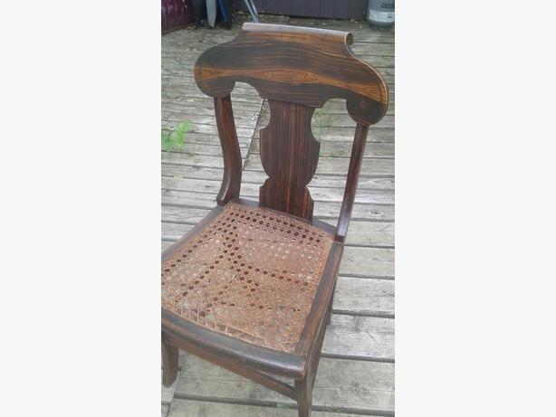 Neat old walnut chair