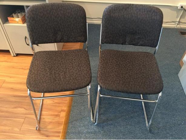 2x blue office chairs