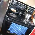 Deluxe Appliances & Lighting, Rock Fire Pit, Deck Wood, Apple, TVs
