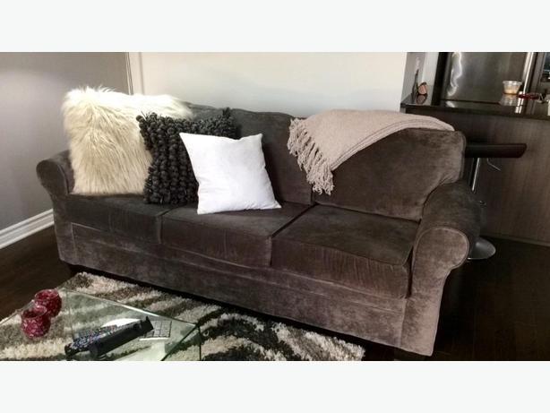 Charcoal Dov Chenille Sofa