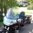 Motorcycle and Trailer