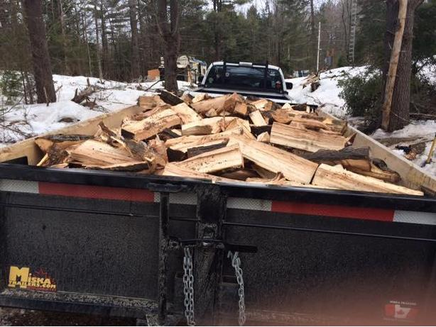 Hardwood firewood for sale $100.00 per face-cord.