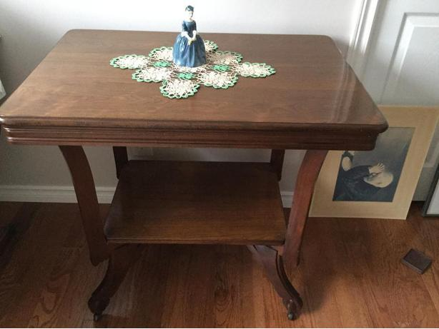 REDUCED Price Old 2 tier table