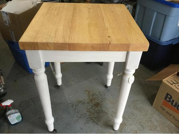 Reduced Price Vintage Butcher Block table