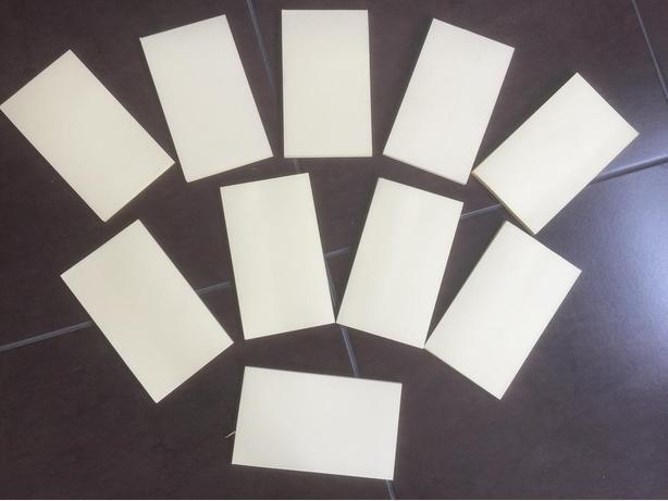 """NEW Gluetop note pads 4x6.5"""" - cream 10pc/pk"""