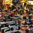 Lots of vintage and antique cameras