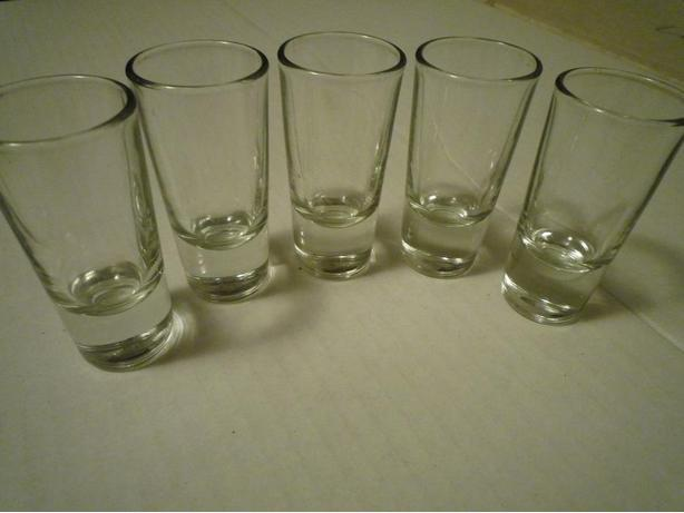 Set of five shotglasses