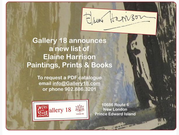 Elaine Harrison Paintings, Prints & Books @ Gallery 18