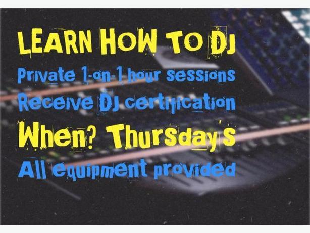 DJ LESSONS! PRIVATE and EQUIPMENT PROVIDED!