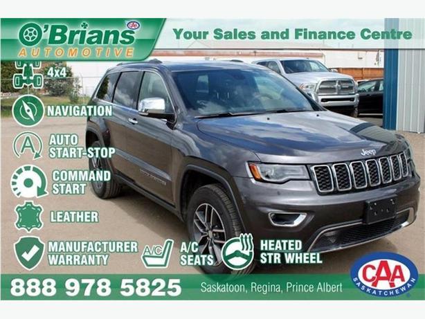 2017 Jeep Grand Cherokee Limited w/Mfg Warranty, Leather, 4x4