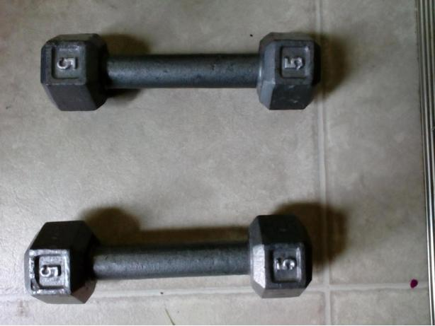 5 lbs Dumbbell $4 each or both for $7