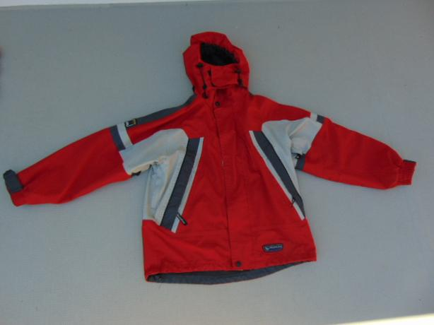 Rain Coat Child Size 10-12 Wetskings Red Grey
