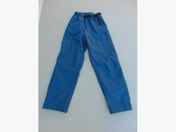 Rain Pants Men's Size Small Wetskins Denim Blue