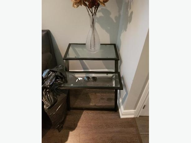black metal glass coffee table