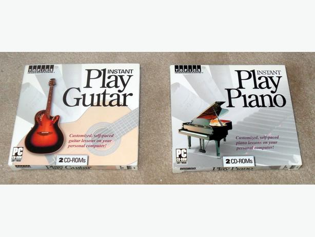 2 New CD Sets of Music Lessons: for Guitar and Piano