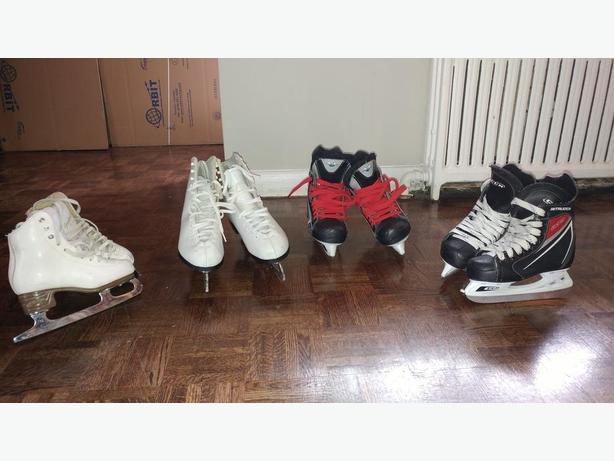skates  and helmets