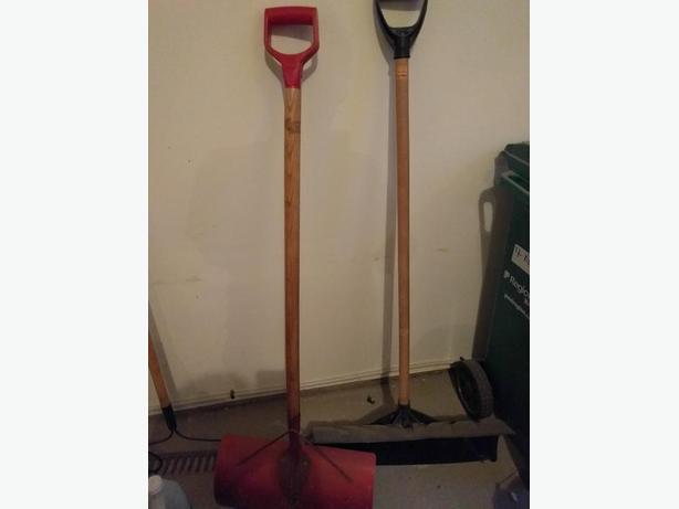 2 winter shovels