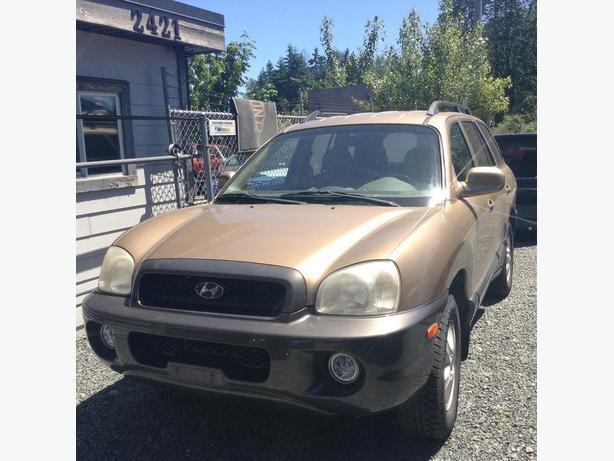 Taxes in ! 2002 Hyundai Santa Fe 4x4