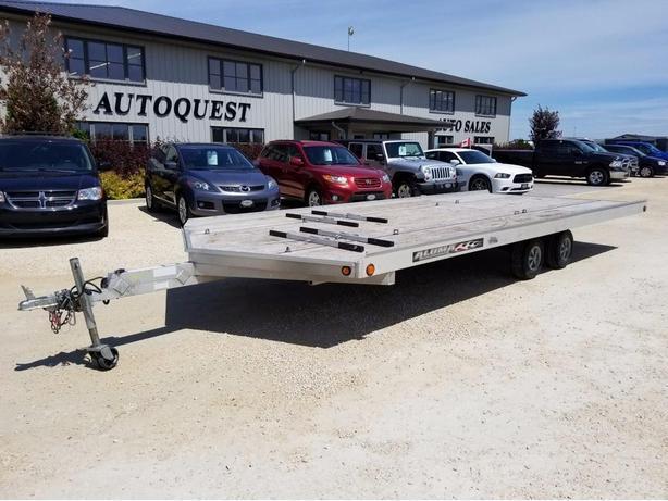 2011 Aluma 20ft 4 Place Drive-On Snowmobile Trailer **USED**
