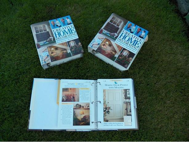 2 Large Books full of Home Decor Projects With How To Instructions