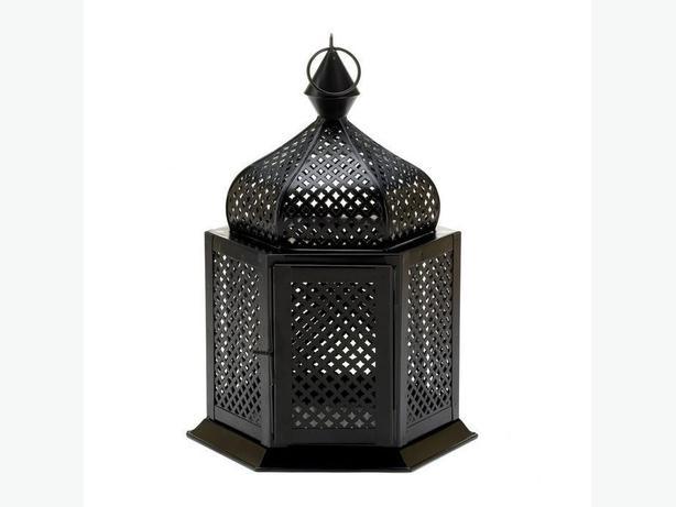 Black Metal Candleholder Lantern Intricate Cutouts 3 Lot Exotic Brand New