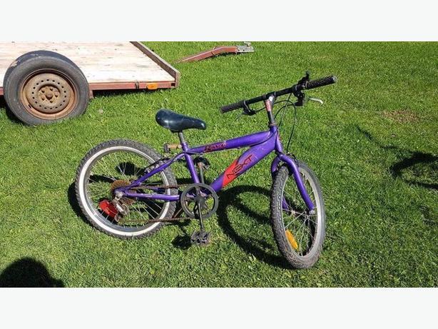various sized pedal bikes