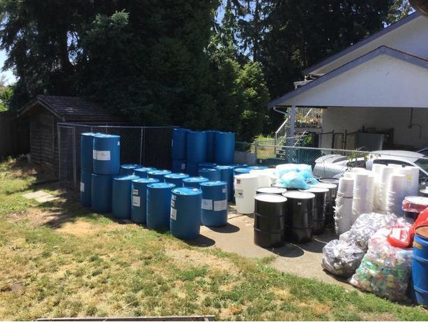  Log In needed $30 · 45 gallon plastic rain barrels,dock floats