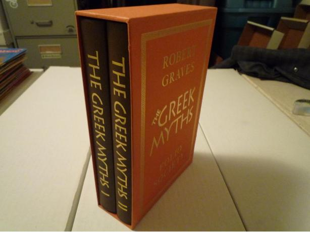 The Greek Myths Vol. 1&2 Folio Society with Slipcase