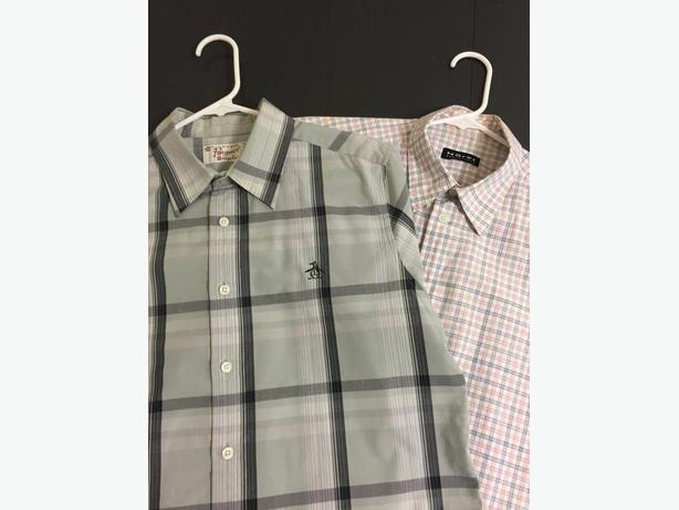 Penguin and Horst short sleeve button up $10 each