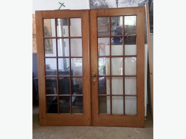Antique 15 Glass Panel French Fir Doors Crofton Cowichan