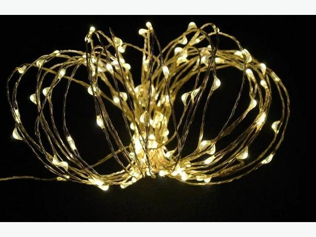 Battery Operated LED Copper String Fairy Lights Home Wedding Decor 10 Sets of 30