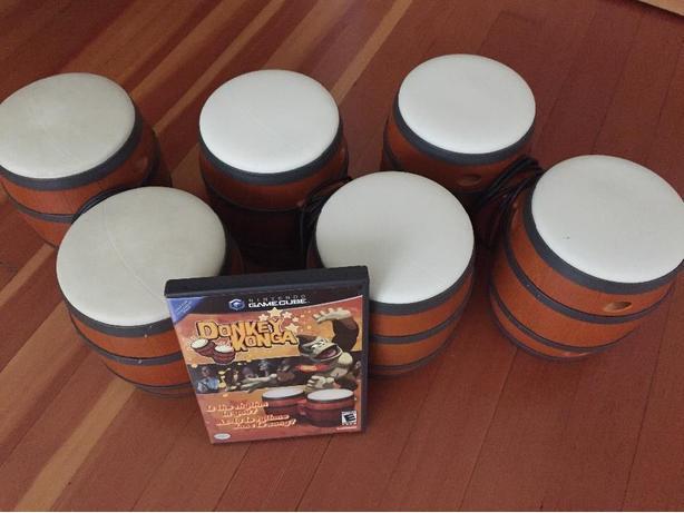 Donkey Konga + bongos