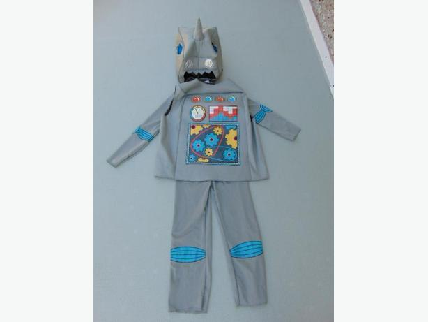 Dress Up Halloween Costume Child Size 4-6 Robot 3 Pc Set