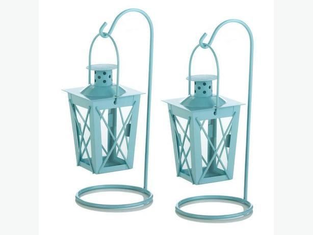 Railroad Candleholder Lantern Pair Blue Pink Choice Mix & Match 5 Sets 10PC