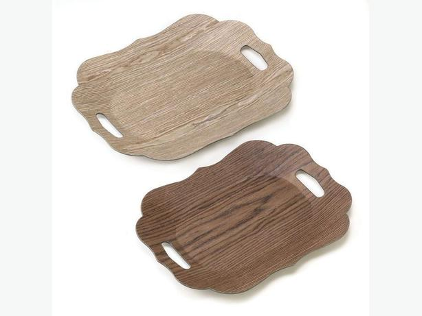 Serving Trays Bamboo Wood Breakfast In Bed TV Tray Table 3 Styles 4PC Mixed NEW