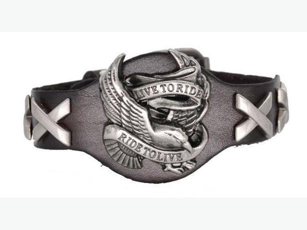 Bracelet en cuir de moto
